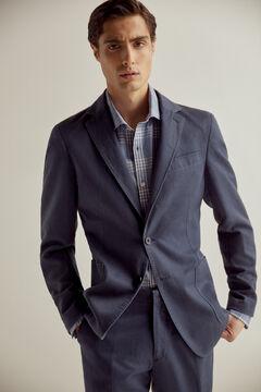 Pedro del Hierro Cotton/linen blazer Blue