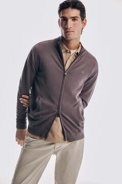 Pedro del Hierro Zip-up cardigan with pockets Grey