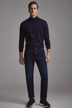 Pedro del Hierro Pantalón vaquero travel cintura interior elástica regular oscuro Blue