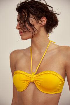 Pedro del Hierro Plain bandeau bikini top Yellow