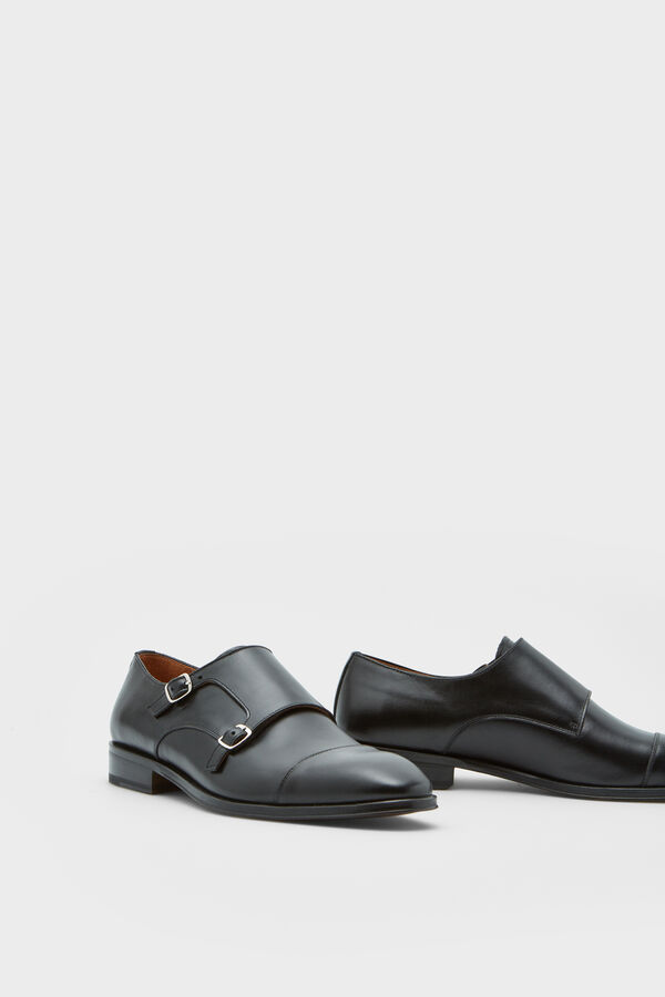 6b05cdebf10 Pedro del Hierro Leather shoes with 2 buckles Black
