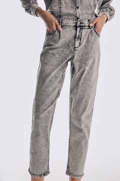 Pedro del Hierro Darted slouchy fit jeans Grey