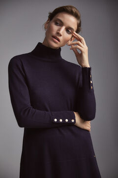 Pedro del Hierro Polo neck tunic jumper Blue