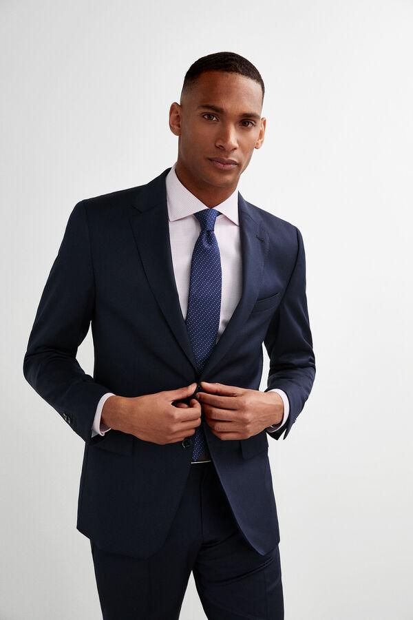 a35ce3547 Pedro del Hierro Americana traje lisa tailored fit Azul
