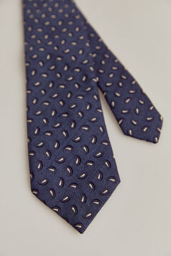 Pedro del Hierro Jacquard paisley tie Blue