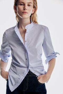 Pedro del Hierro Poplin shirt Blue