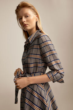 Pedro del Hierro Checked dress Blue
