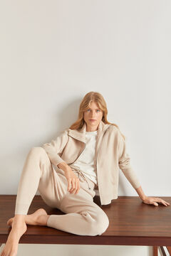 Pedro del Hierro Soft feel jersey-knit jogger trousers Brown