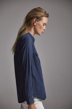 Pedro del Hierro Denim shirt  Blue