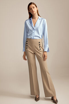 Pedro del Hierro Button trousers Beige