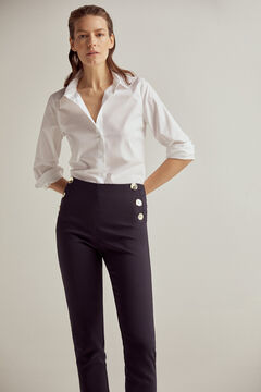 Pedro del Hierro Slim trousers with button detail Blue
