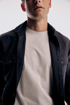 Pedro del Hierro Basic short sleeve t-shirt Ecru