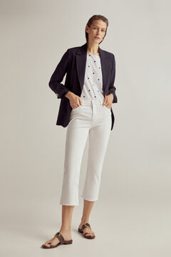 Pedro del Hierro Coloured capri trousers White