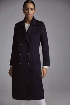 Pedro del Hierro Military long coat Blue