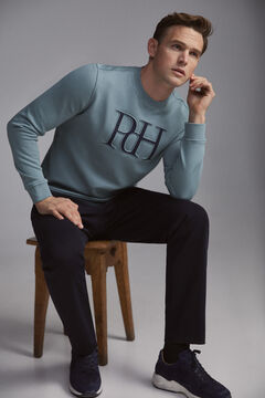 Pedro del Hierro Crew neck sweatshirt Burgundy