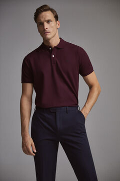 Pedro del Hierro Smooth polo shirt Red