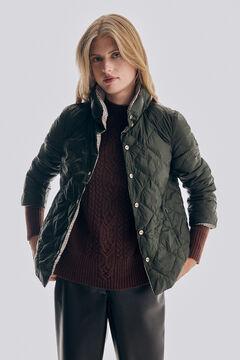 Pedro del Hierro Printed ultralight reversible jacket Beige