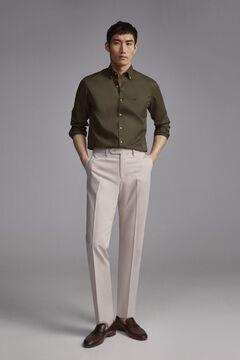 Pedro del Hierro Camisa lisa gabardina Grey