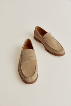 Pedro del Hierro Rubber sole loafer Beige