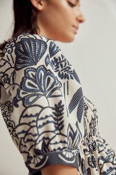 Pedro del Hierro Printed square neckline blouse Blue