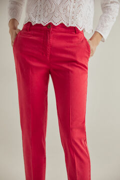 Pedro del Hierro Slim fit Tencel® trousers Red