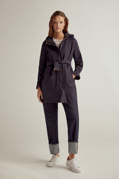 Pedro del Hierro Cotton hooded parka Blue