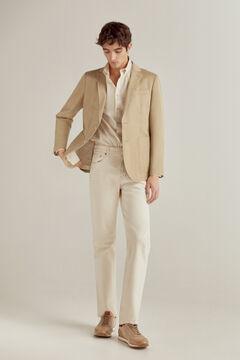 Pedro del Hierro Americana de algodón-lino Beige