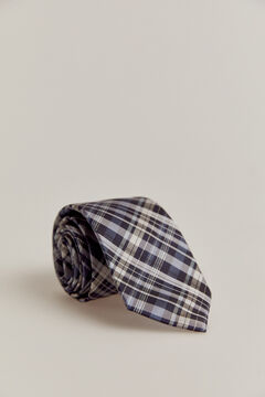 Pedro del Hierro Checked tie Blue