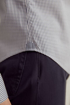 Pedro del Hierro Gingham TX Protect slim fit shirt Blue