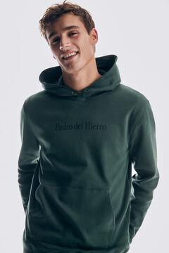 Pedro del Hierro Hooded sweatshirt Green