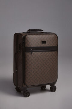 Pedro del Hierro Classic logo canvas suitcase Brown