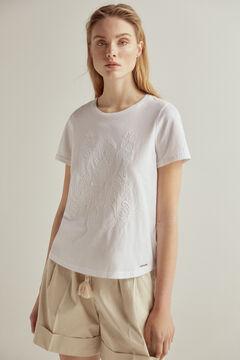 Pedro del Hierro Camiseta manga corta bordada Blanco