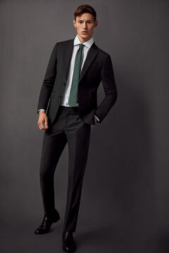 Pedro del Hierro Slim fit suit trousers Grey