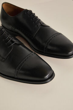 Pedro del Hierro Laced leather shoe with leather sole Black