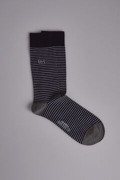 Pedro del Hierro Striped socks Blue