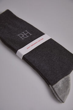 Pedro del Hierro Plain big logo socks Grey
