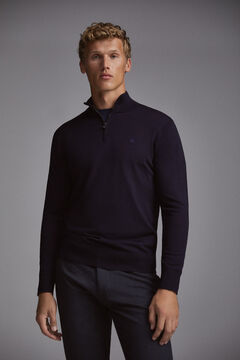 Pedro del Hierro Half turtleneck jumper Blue