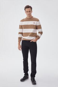 Pedro del Hierro Slim fit black wash cashmere touch jeans Black