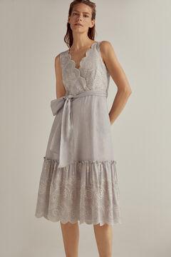 Pedro del Hierro Midi dress with embroidery Blue