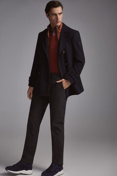 Pedro del Hierro Double-breasted jacket with removable lining Blue