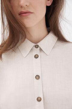 Pedro del Hierro Fluid viyella blouse Ecru