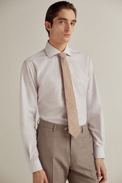 Pedro del Hierro Plain non-iron dress shirt Grey