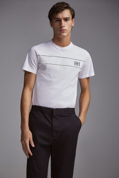 Pedro del Hierro Short-sleeved logo t-shirt White