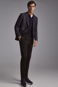 Pedro del Hierro Ultralight blue wool blazer  Blue