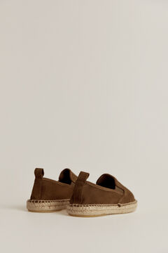 Pedro del Hierro Leather espadrille with logo  Green