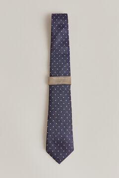 Pedro del Hierro Polka-dot jacquard tie. Blue