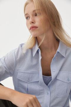Pedro del Hierro Jersey-knit boxy T-shirt Blue