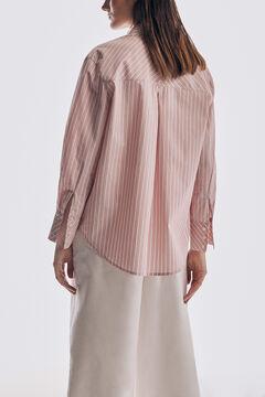 Pedro del Hierro Woven stripe T-shirt Pink