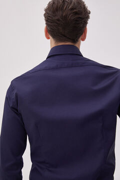 Pedro del Hierro Textured Travel Collection shirt Blue