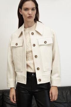 Pedro del Hierro Soft cloth jacket Ecru